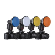 Flash Speedlite K9/K-9 4 Color gels filter Softbox Diffuser Reflector Light Control for Speedlight Photo Studio Accessories(China)