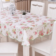 Hot Pastoral Style PVC Table Cloth Rectangular Round  Tablecloth Flowers Printed Waterproof Table Covers toalha de mesa