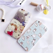 SZYHOME Phone Cases for IPhone 6 6s 7 Plus Case Panda Totoro Cute Discounted for IPhone7 Plus Embossment Mobile Phone Cover Capa
