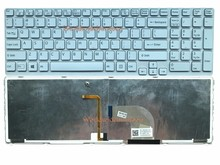 Reboto Original Laptop Keyboard For Sony Vaio SVE171 SVE1712 SVE1713 White color 149156011US 90.4XW07.N01 US Layout backlit(China)