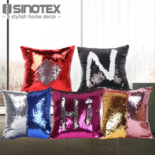 Single Side Sequin Mermaid Cushion Cover Pillow Magical Color Changing Glitter Throw Pillow Case Home Decorative Pillowcase(China)
