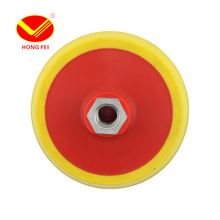 HongFei 10 Pieces 113mm Rubber Polishing Disk For Velcro Polishing Pad Buffer Polisher Bonnet Pad Back-up Pads