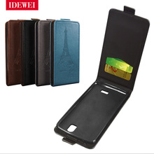 "Wallet Fundas For coque fly iq4503 quad era life 6 case 5"" leather & silicone pouch For fly iq4503 cover flip phones back skin(China)"