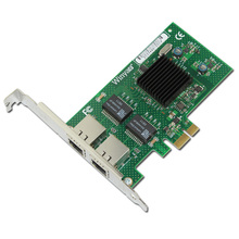 2 Ports Gigabit Ethernet Network Adapter 1000M PCI-E X1 NIC Card 82575EB Chipset