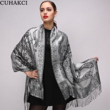 CUHAKCI 2017 Newest Design Totem Winter Scarf Women Rayon Shawls Spring Cotton Warm Scarves European Style Scarf Woman Long Wrap