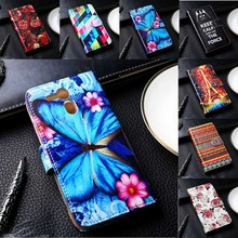 Luxury Flip PU Leather Phone Covers For Acer Liquid E700/Z530 Cases With Card Holders DIY Painted  Hot Sale Mobile Phone Skins