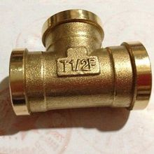 "Tee 3 Way Brass Pipe fitting Connector 1/2"" BSP Equal Female Thread for water fuel gas"