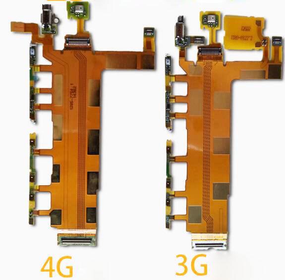 Power Button Flex Cable & Volume Switch Flex with Microphone Vibrator for Sony Xperia Z3 D6653 D6603 D6643 3G 4G(China (Mainland))