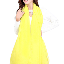 Yellow Trendy Summer Care Solid Color Scarf Shawl For Women(China)