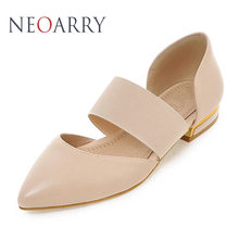 NEOARRY 2017 New Summer Fashion Sexy Black White Beige Shallow Elastic Band Flat Heel Women Sandals Big Size 31- 47 LD017