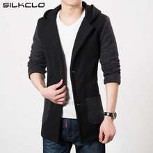 Brand Clothing Men's Jackets Coat Long Section Hooded Blazers for Men Trench Coat Masculina Homme Brand Casual Overcoat Jackets
