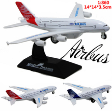 Hot Sale 14cm Metal airlines plane model Aeroflot Airbus A380 aircraft model airplane model For Baby Gifts Toys FreeShipping(China)