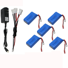Buy lipo battery 2s 7.4V 1500mah 30C 5pcs charger Quadcopters Helicopters RC Cars Boats High Rate batteria lipo car parts for $47.57 in AliExpress store