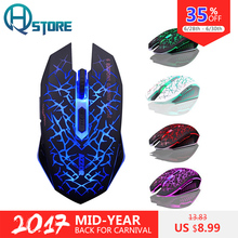 AZZOR M6 Wireless Gaming Mouse Mute Button Silent Click Rechargeable 2400DPI Optical Colorful Backlight For Tablet Laptop