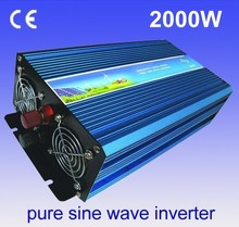 Power Supplies DC to AC Power Inverter 2000W 24V 220V Pure Sine Wave Inverter(China)