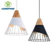 Nordic iron pendant lights scandinavian bar restaurant cafe table villa office simple E27 pandent Lamp lighting
