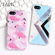 Buy LACK Phone Case iphone 6 Case Cartoon Flamingo Cover Colorful Geometric Graphic Soft IMD Capa iphone 6S 7 7 Plus 5 5S for $1.42 in AliExpress store