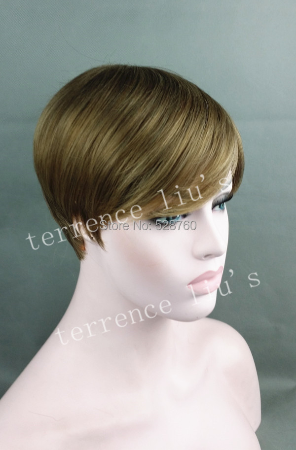 Short hair wig Golden brown and Ash blonde mix  Free shipping<br><br>Aliexpress