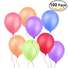 100pcs 10 Inch Assorted Bright Color Latex Balloon Air Ball Inflatable Wedding Birthday Party Decoration Float Balloon Toys