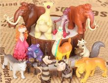 Free Shipping Ice Age Manny Ellie Diego Sid Scrat PVC Action Figures Toys Dolls 12pcs/set Christmas Gifts
