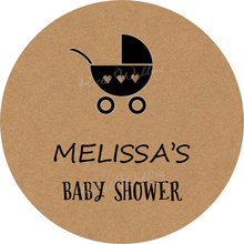Personalized baby show label - Baby Car Sticker, Kraft stickers, Baby stickers, Celebration stickers, Gift Favors