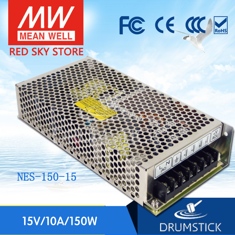 Worthwhile Free shipping MEAN WELL NES-150-15 2Pcs 15V 10A meanwell NES-150 15V 150W Single Output Switching Power Supply<br><br>Aliexpress