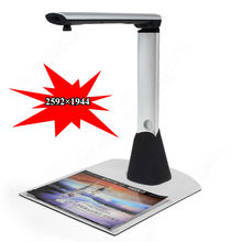 Free shipping!!Brand New 5.0 Mega Pixels 2592*1944 Portable Foldable High Speed 1s A3 Scanner(China)