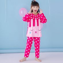 Children Pajama Set Cartoon Kids Pijamas Set 3-13 Years Animal Boys Sleepwear Girls Pyjamas big child Pyjamas Clothes For Baby(China)