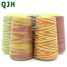 high quality Rainbow Color Sewing Thread Hand Quilting Embroidery Sewing Thread Home DIY Sewing Yarn Knitting Accessories(China)