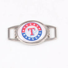 Texas Rangers MLB Baseball Team Logo Oval Shoelace Charms For Sport Shoes And Paracord Bracelets Jewelry Decoration 20pcs