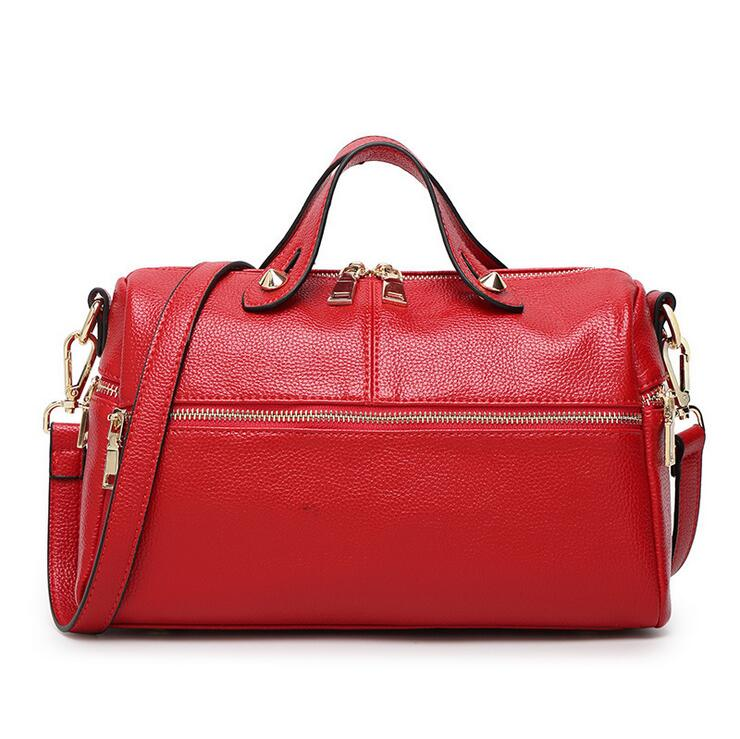 2017 guangzhou supplier brand imported leather tote bag female fashion handbags women boston bag large shoulder bag for ladies(China (Mainland))