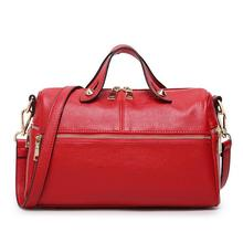 2017 guangzhou supplier brand imported leather tote bag female fashion handbags women boston bag large shoulder bag for ladies(China)