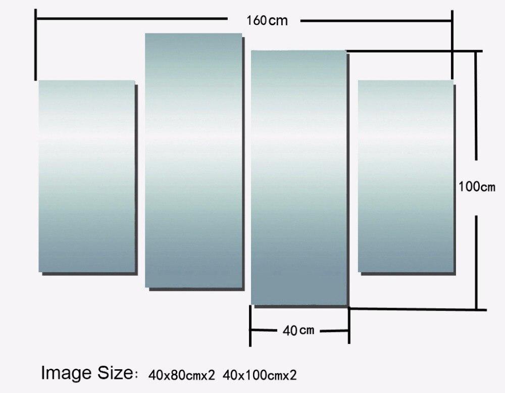 4 PCS 40x80 40x100