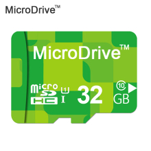 2017 Hotsale! MicroDrive Brand Green micro sd card class 10 TF flash card 4gb 8gb 16gb 32gb 64gb memory card