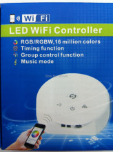 NEW UFO MINI WIFI led controller,DC12-24V,RGB/RGBW,Timing function,group control,music mode,16million colors,LED wifi controller