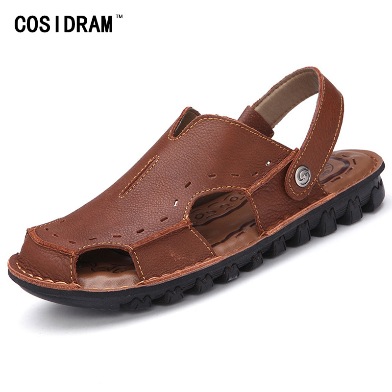 2017 Summer Men Shoes Genuine Leather Men Sandals ...