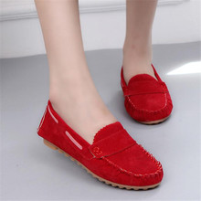 New woman casual flat shoes woman round toe loafers fashion slip on Comfort  peas lazy boat shoes Comfortable breathable