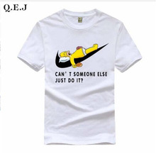 Q.E.J 2016 New Letter Print T Shirt Mens Black And White Comic Con Cosplay T-shirts Summer Skateboard Tee Boy Skate Tshirt Tops