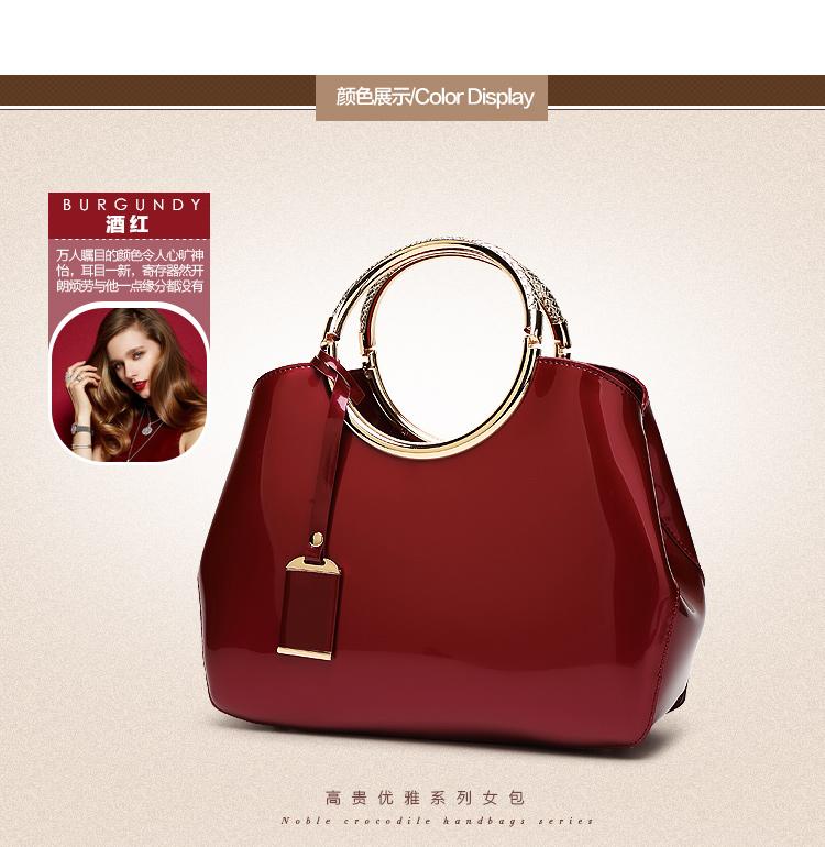 New High Quality Patent Leather Women bag Ladies Cross Body messenger Shoulder Bags Handbags Women Famous Brands bolsa feminina (15)