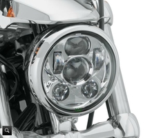 Accesorios Moto Motorcycle Headlight Chrome Black 5.75 inch Round LED headlight Harley 5 3/4 Road Glide Daymarker - SOYAVISION Factory Manufacture Car Lights Parts Store store