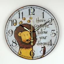 Children Room Decoration Wall Clock Safe And Silent Cartoon Have Courage Follow Your Dreams Kid Wall Clock Best Gift