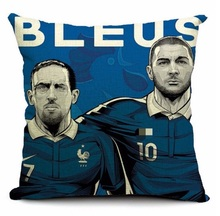French Football Federation Rooster Gallic Legion Soccer Pillow Massager Cool War Pillows Warm Art  Cover Warm Home Gift Funs