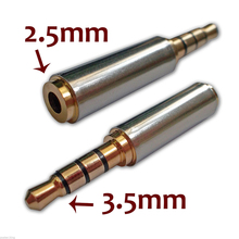 1PC High Quality 3.5mm Male To 2.5mm Female Stereo Earphone Headphone MIC Audio Jack Plug Adapter Converter Connector