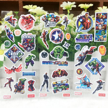 % 10 pcs / lot. 3D bubble stickers stickers Avengers toys school rewards this Sticker home decor Christmas Scrapbook children(China)