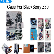 AiLiShi New Arrive Cartoon Flip With Card Holder Protective Back Cover Skin Pouch PU Leather Case For BlackBerry Z30 Phone Case(China)