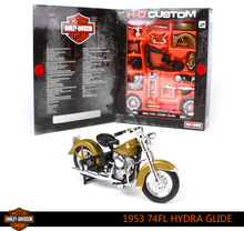 1/18 Maisto Assembled Motorcycle Toy, DIY Diecast + Alloy Motor Car, Harley 1953 74FL Hydra Glide Model, Kids Toys, Juguetes