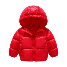 2017 NEW Boys Girls jacket Parkas Autumn Winter Child Down Jacket Thin Warm Coats 3-14 Age Super Light Hooded Kids Outerwear
