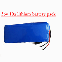 Colaier 36V 10AH bike electric car battery scooter high-capacity lithium battery include the 42v 2a charger(China)