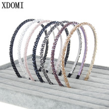 2017 Hot sales Hair Bands Women/Girls Shiny Rhinestone Crystal Headband For Fashion Ladies Jewelry Head hoop Hair Accessories