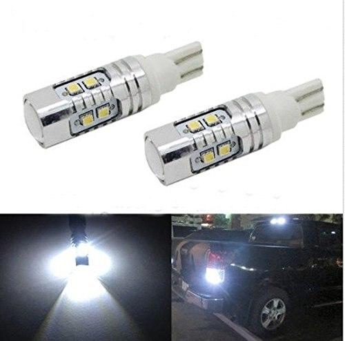 2pcs 50W Samsung 2323 SMD 6000k White 921 T10 T15 Backup Reverse LED Lights Projector Lens Bulbs<br><br>Aliexpress
